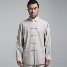 2018 Sale 20 Manufacturers Selling Linen Tang Suit Jacket In The Spring And Autumn Coat Embroidered Beads Male Buckle Cuff G714(China)