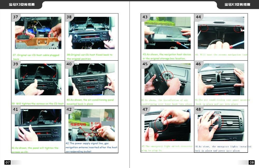BMW X3 Installation instruction 4