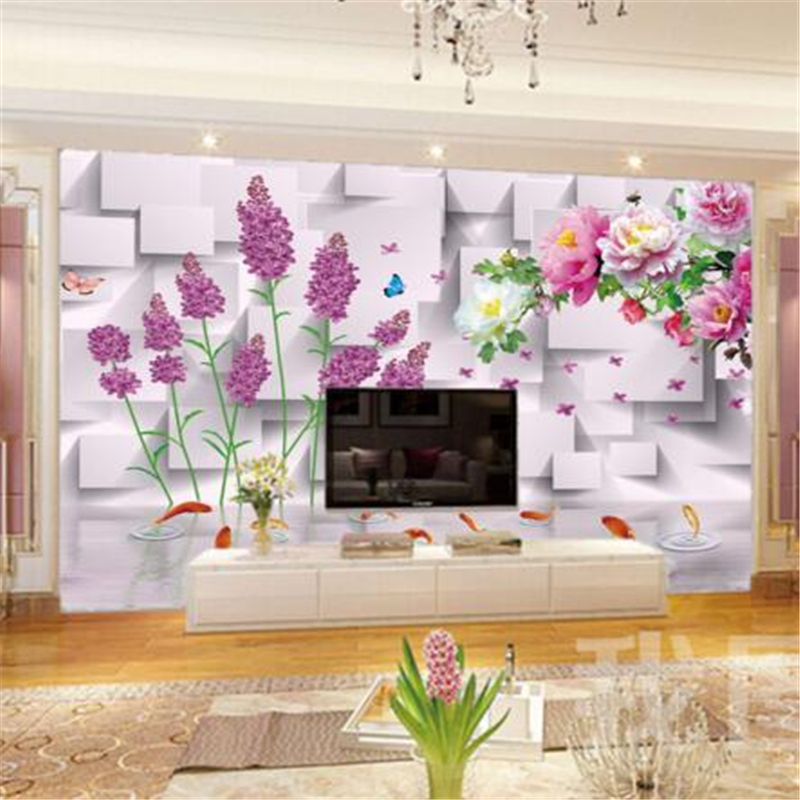 papel de parede Peony flowers rich picture wall murals family home decoration living room bedroom wallpaper for walls 3 d photo<br><br>Aliexpress