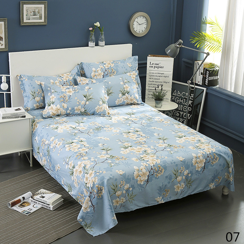 100% Cotton Modern Fashion Bed Flowers Flowers And Trees Printing Pattern 3pcs Bed Sheets Pillowcase Large Size 230x250cm 10