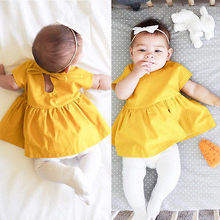 Newborn Baby Girl Clothing Princess Dress Summer Wedding Pageant Baby Dresses A line Toddler Infant Kids Dress 0-24M