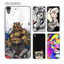 CROWNPRO Case Cover Huawei Y6 Honor 4A Phone Colored Painted Hard PC Protective Back Case Cover Huawei Honor 4A Case