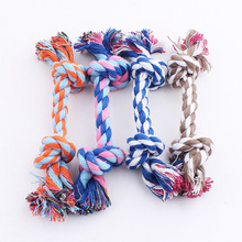 Durable Braided Rope Pet Dog Chew Toy Strong Knot Cotton Rope For Pet Cat Puppy Training Dogs Tooth Toys Pet Health Dog Training(China)