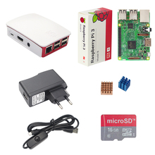 Raspberry Pi 3 Model B Starter Kit + 16G SD Card + Official ABS Case + 2.5A Power Adapter + Switch USB Cable + Heat Sink RPI 3