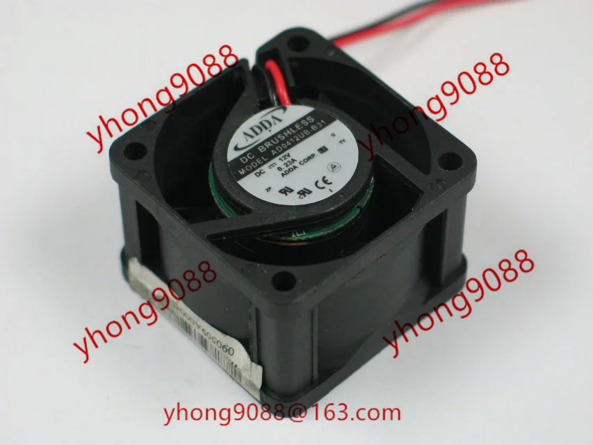 AD0412UB-B31 DC 12V 0.23A   40x40x28mm Server Square  Fan<br>
