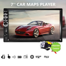 2 Din 7'' inch LCD Touch screen car radio player 2din autoradio support bluetooth hands free call rear view camera car audio