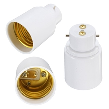 Hot Sale BC B22 To ES E27 Screw Light Bulb Adaptor Lamp Holder Converter Lamp Bases White(China)