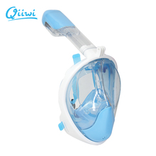 2017 Qiiwi New Arrival Snorkel Mask Full Face Design Snorkeling Diving Mask Anti-fog and Anti-leak Technology Water Sports