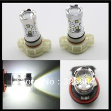Buy 2x 5202 H16EU H16 PS19W 50W Xenon White High Power Cree Chips Led Car Fog Daytime Running Light for $24.00 in AliExpress store