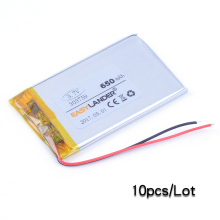 10pcs/Lot 303759 3.7V 650mAh  li Polymer Li-ion Battery For  Bluetooth Device  PDA GPS PS Toys E-book speaker Bluetooth ttle toy