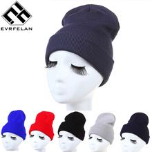 Hot Sales Fashion Winter Hat For Women Skullies Beanies Knitted Hat Female Cap Brand Women Beanies Hat Pure Color Headgear