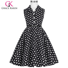 Buy Grace Karin 2018 Flower Girl Dresses Weddings Party Children Kids Girls First Communion Dress Vintage Polka Dots Dress for $17.72 in AliExpress store