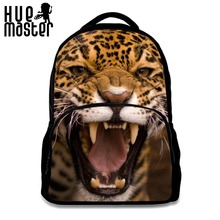 HUE MASTER Large capacity thickening computer bag Can store 15.6-inch notebook shoulder bag 3D Ferocious tiger theme backpacks