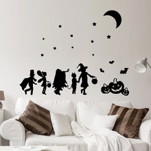 2017 new Halloween Pumpkin Wall Sticker Window Home Decoration halloween wall sticker home decor adesivo de parede para quarto(China)