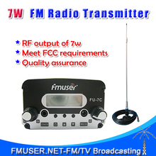 FMUSER FU-7C 7W FM stereo PLL radio fm transmitter+CA200 Car Sucker Antenna Cable Kit(China)