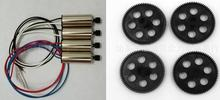 Buy 4pcs Engines motor + 4pcs Main gear Visuo Xs809hw Xs809w Xs809 Rc Drone Quadrocopter Spare Parts for $11.33 in AliExpress store