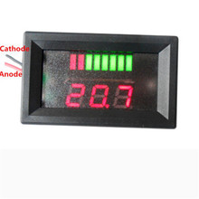 12V ACID Red Lead Battery Capacity Indicator Charge Level  Lead-acid LED Tester Voltmeter For Arduino