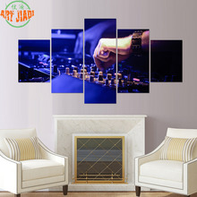 4 Piece/set or 5 Piece/set Canvas Art Music Listen To Radio Online HD Paintings Decorations For Home Wall Art Prints Canvas B119(China)