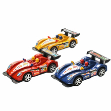 15cm Plastic Racing Car Toys Model Car Birthday Gift For Kids Random Color Birthday Christmas Gifts For Kids Cars Toys K2771(China)