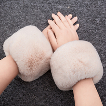 Fashion Warm Winter Oversleeve Arm New Women Cuff Wristband Soft Warm Winter Oversleeve Arm Warmer Women Faux Rabbit Fur(China)