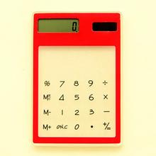 Hot Sale LCD 8 Digit Touch Screen Slim Credit Card Cheap Solar Power Pocket Calculator Novelty Small Travel Compact wholesale