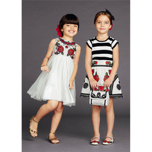 Spring Fashion Rapunzel Dress Printing Girl Party Dress Flowers Disfraces Ninas Casual Lace Designer Girls Dress Summer