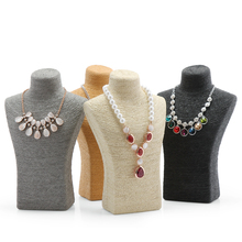 New Style Mannequin Display Necklace Stand Neck Bust Model Holder Jewelry Pendants Stand Household Decoration Showcase Rack T35