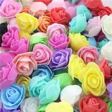 50 pcs / lot Bubble Creative Pectoral Flower Head Wreath Pink Flower Bouquet Wedding Dress Materials Decorative Wreaths Optiona(China)