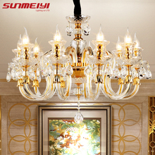 Modern Crystal Chandeliers Home Lighting lustres de cristal Decoration Luxury Candle Chandelier Pendants Living Room Indoor Lamp(China)