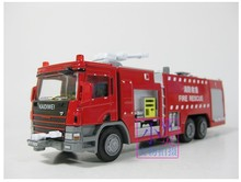 New sale 1pc 1:50 18cm Cadeve engineering water pot fire engine truck simulation model alloy car decoration children gift toy(China)