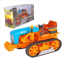 1:18 scale yellow farm tractor used crawler alloy car model kids toys Free shipping