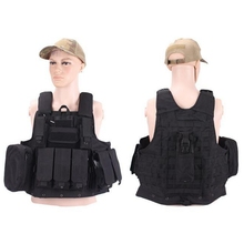 New Outdoor Molle CIRAS Tactical Vest Airsoft Paintball Combat Vest W/Magazine Pouch Releasable Armor Plate Carrier Strike Vests(China)
