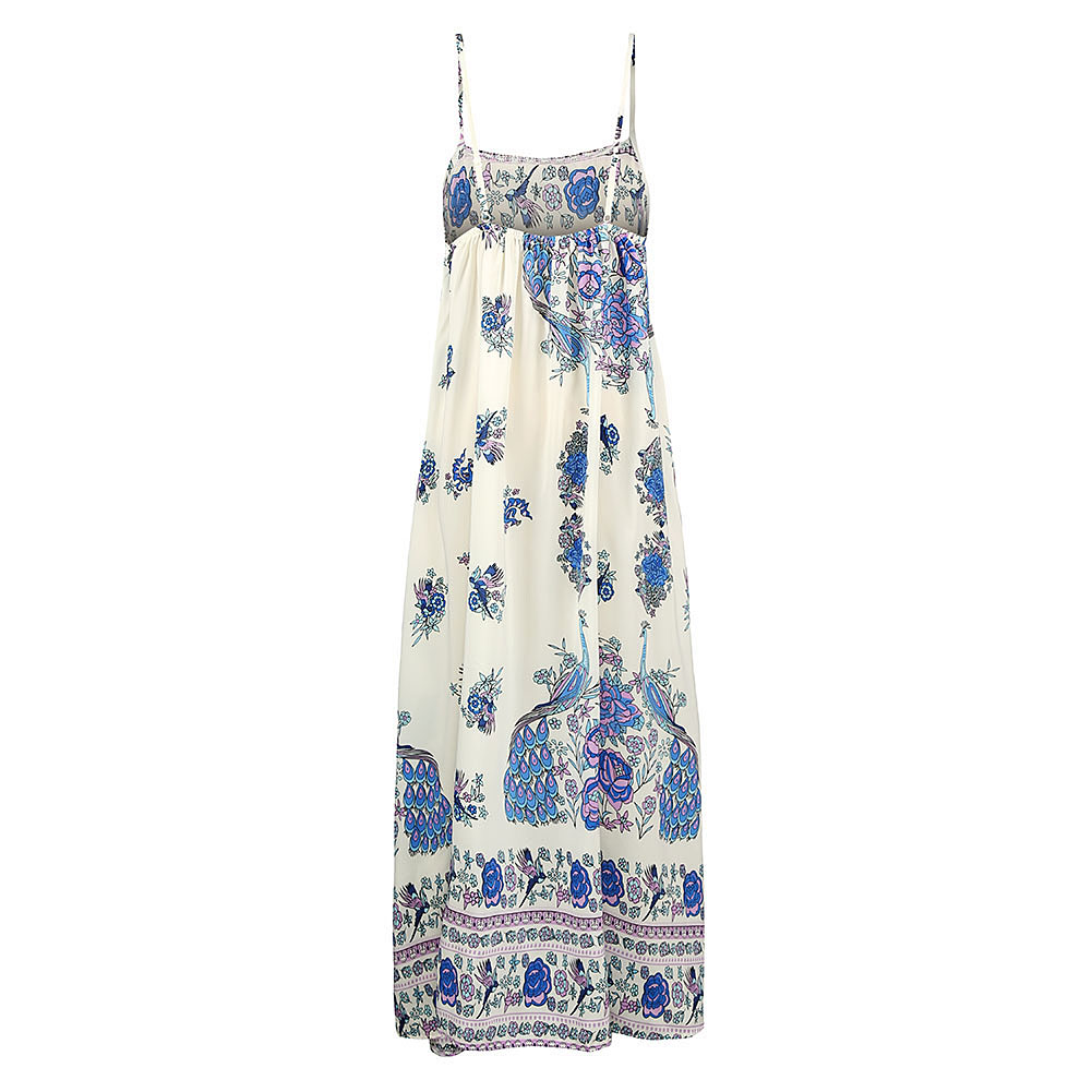 Boho Floral Maxi Dress Sleeveless Backless Long Summer Dress (Us 10-16)