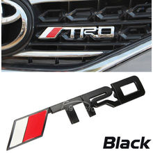 "Black Metal ""TRD"" LOGO Front Grille Grill Badge Emblem Fit For Toyota Celica Camry Corolla Scion MR2 Supra ETC ...(China)"