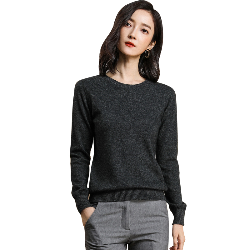 Autumn Cashmere Sweater Women Pullover Winter 2018 New Fashion Soft Solid O-neck Long Sleeve Woolen Knitted Tops Female Jumper
