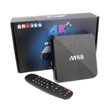 TOPS Core Ubuntu 14.10 Black Android 4.4 Set-top Box WiFi Bluetooth TV Box H.265 High-quality For Google TV Player EU / US Plug