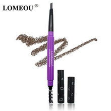 LOMEOU High Quality Makeup Brows Automatic Eyebrow Pencil With Eye Brows Brush Waterproof Long-lasting(China)