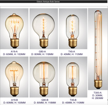 Free shipping Edison Bulb Vintage Antique Style Incandescent Light Bulbs E26/E27 Medium Base For Home Light Fixtures Decorative(China)