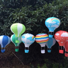 3pcs/lot 12inch=30cm Perfect Rainbow Hot Air Balloon Paper Lanterns Hanging Baby Shower Kids Birthday Holiday Decorations