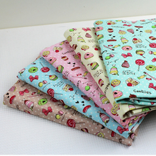 1 Meter Cotton Linen Cloth, Cotton and Sweet Ice Cream Can Be Used As Curtains Tablecloth(China)
