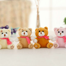 10 pieces/lot 8 cm wholesale bear Small Pendant plush toys small doll wedding gift bear doll bear plush toys