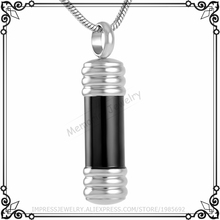IJD9257 Perfume Essential Oil Bottle Stainless Steel Cremation Jewelry Pendant Necklace Man,Women Charm Pet Cremation Containers