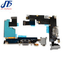 "10pcs OEM for iPhone 6 plus 5.5""Dock Connector Usb Charger Charging Port Flex Cable Ribbon with Headphone Audio Jack replacement(China)"