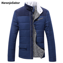 NaranjaSabor 2017 Winter Men's Thick Coat Warm Padded Men Casual Jackets Male Overcoat Outwear Mens Coats Mens Brand Clothing