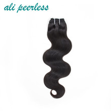 "Ali Peerless Hair Peruvian Body Wave Virgin Human hair 10""-28"" Nature Black Weaving Unprocessed Free Shipping One Bundle"