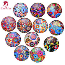 24pcs 12mm Coloured drawing Cartoon pattern Round Handmade Photo Glass Cabochons & Glass Dome Cover Diy Ornament Beads(China)