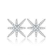 wholesale star 925 sterling silver stud earring factory price for star stud earring wholesale star earring supplier stamped s925(China)