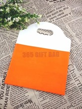 Newest Plastic Patchwork Fashion Shopping Bags,500pcs Orange Boutique Shopping Pouch For Jewelry/Candy/Gift/Clothes Packaging