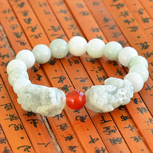 Grade A stone beads bracelets for women natural stone bead diameter 10mm bracelet double brave BIXIU women gift new arrival 0653(China)