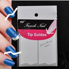 2 Packs White French Nails Art Tips Tape Manicure Sticker Guide Stencil Charming DIY W12